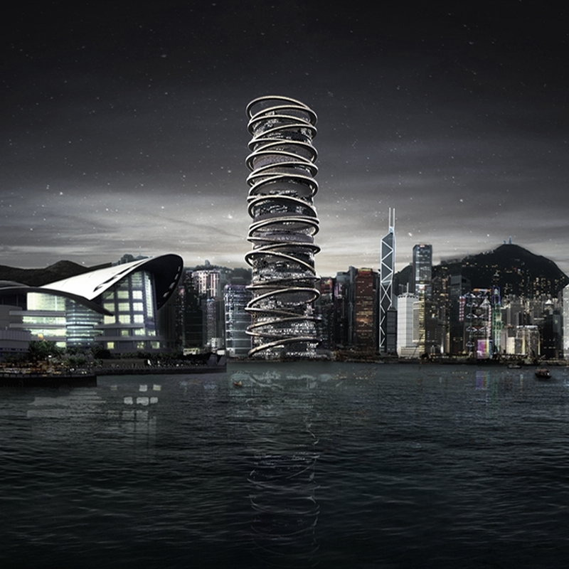 Hong Kong Skyscraper Arcology   1st Place Competition Entry
