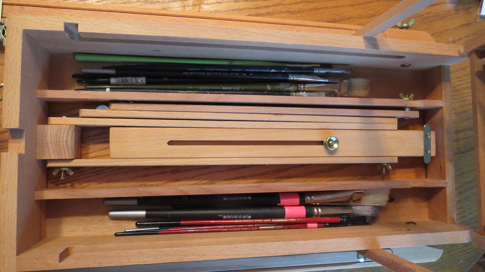 Bottom Drawer is perfect for brush storage
