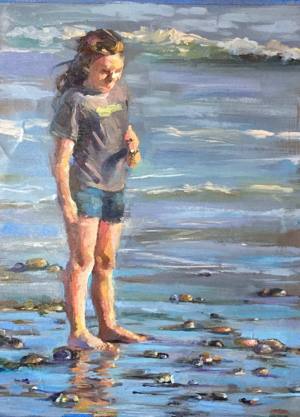 Stone Collector 9x12, Gallery at Firehouse Square, oil on linen $350.