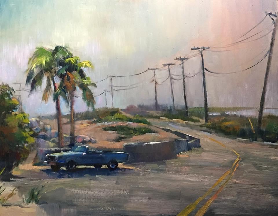 Beach Rd. Solitude 11x14 oil on panel framed $475.