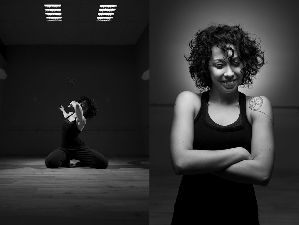 Fabiana dancing in her studio. And a portrait of hers that she will kill me for posting. Sorry, I just like it way too much :)
