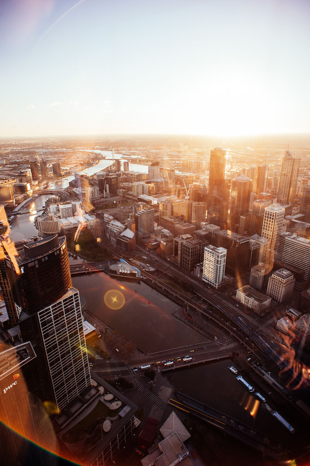 On top of the Eureka Tower, Melbourne