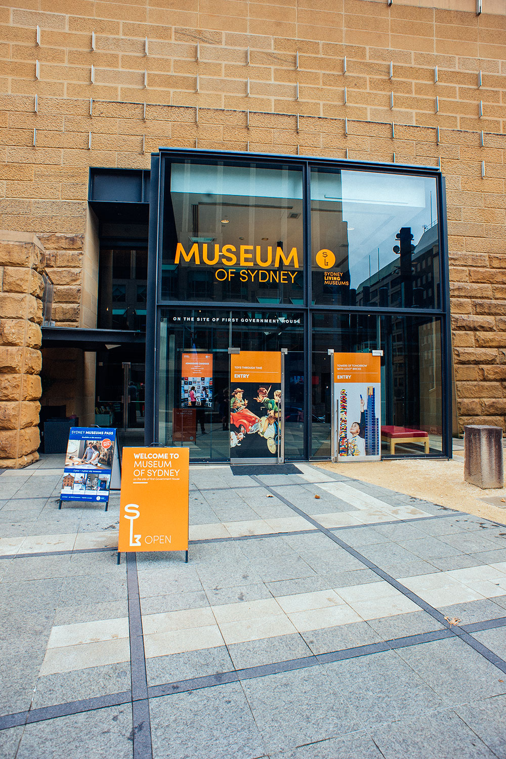 The entrance of the Museum of Sydney