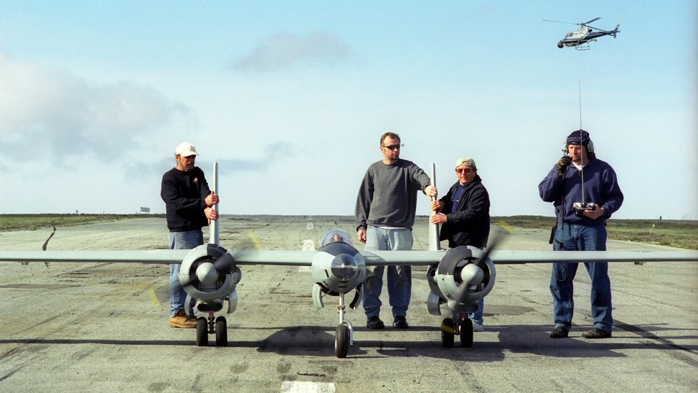 XF-11 pre-flight Catalina Island
