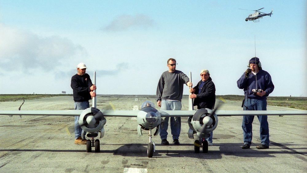 XF-11 pre-flight Catalina Island
