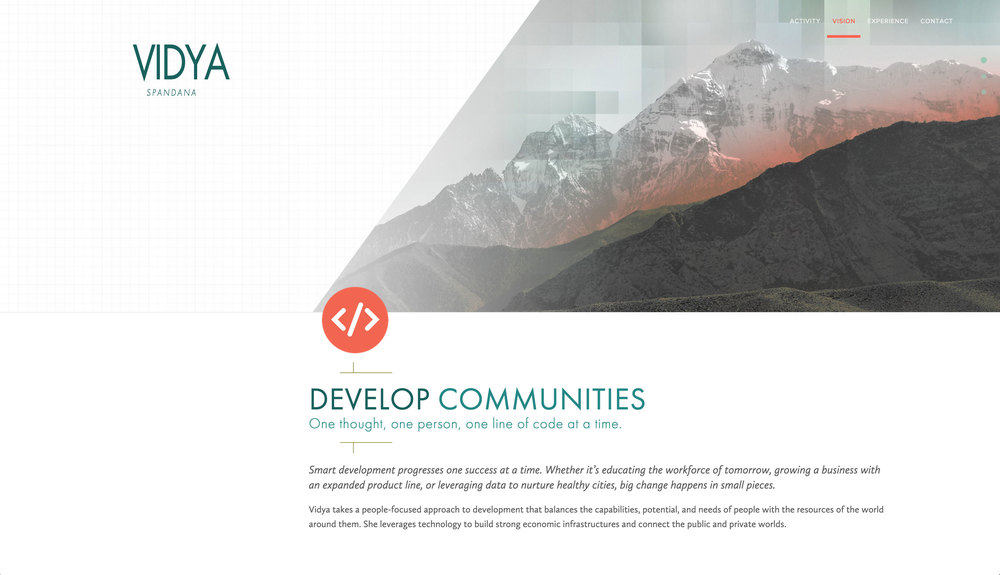Vidya Spandana   Developer of Big Ideas