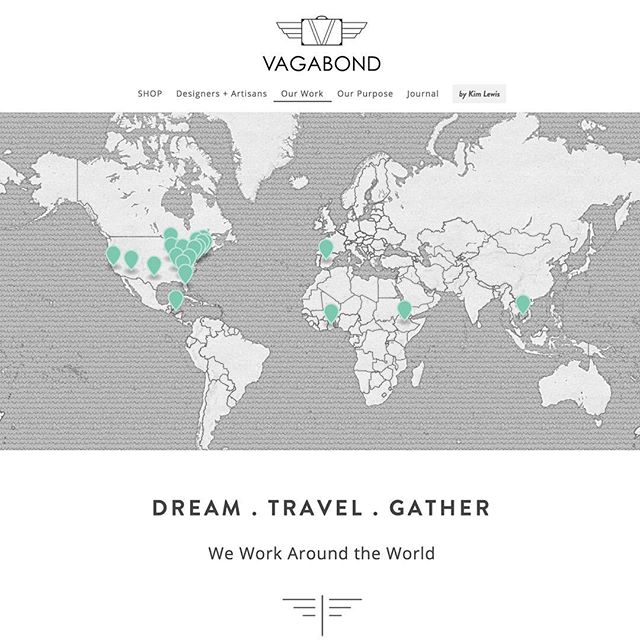 Take a peek at the website with interactive map we created for our lovely client @thevagabonddesigners #squarespace http://www.vagabond-designs.com/around-the-world