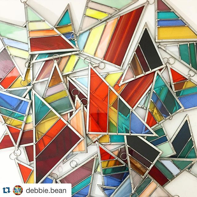LOVE @debbie.bean ・・・ #rainbowsforever #debbiebean #stainedglass #handmadeornaments
