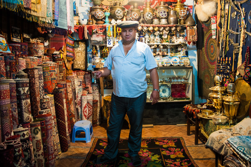 Rug and Jewelry Merchant - Baku, Azerbaijan