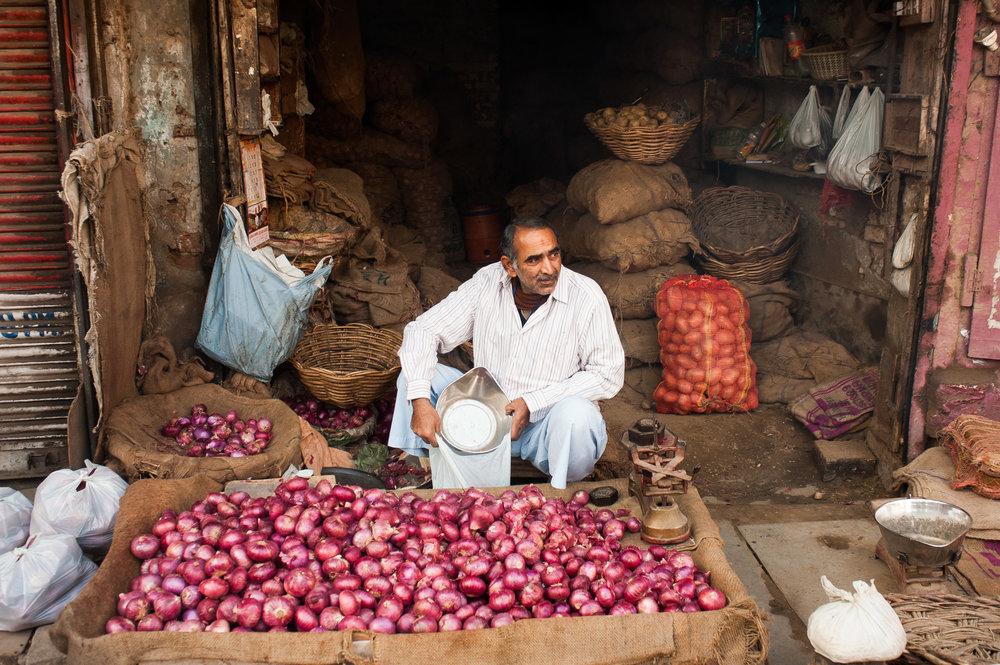 Onion Merchant - New Delhi, India