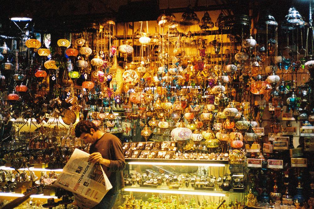 Lamp Merchant - Istanbul, Turkey