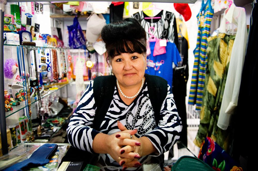 Tourist Market Merchant - Almaty, Kazakhstan