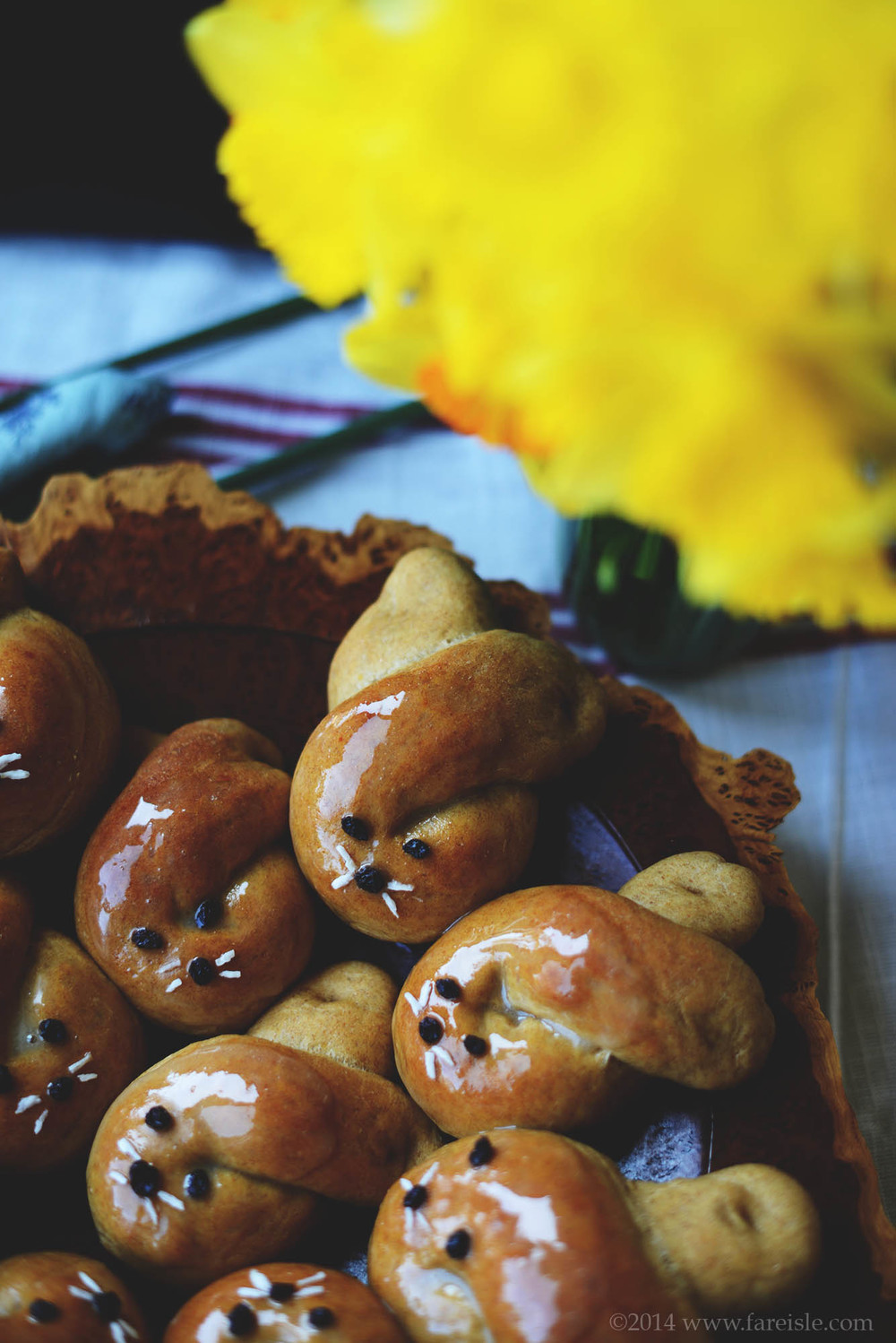 fare isle blog Vegan Sweet Dough Recipe & Easter Bunny Rolls