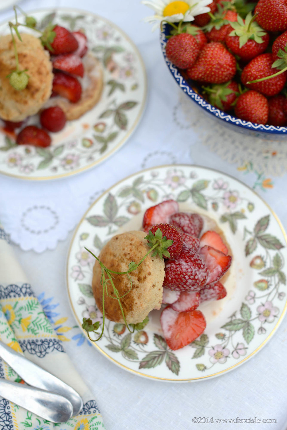 Fare Isle Blog: Vegan Strawberry Shortcakes with Fresh Coconut Cream