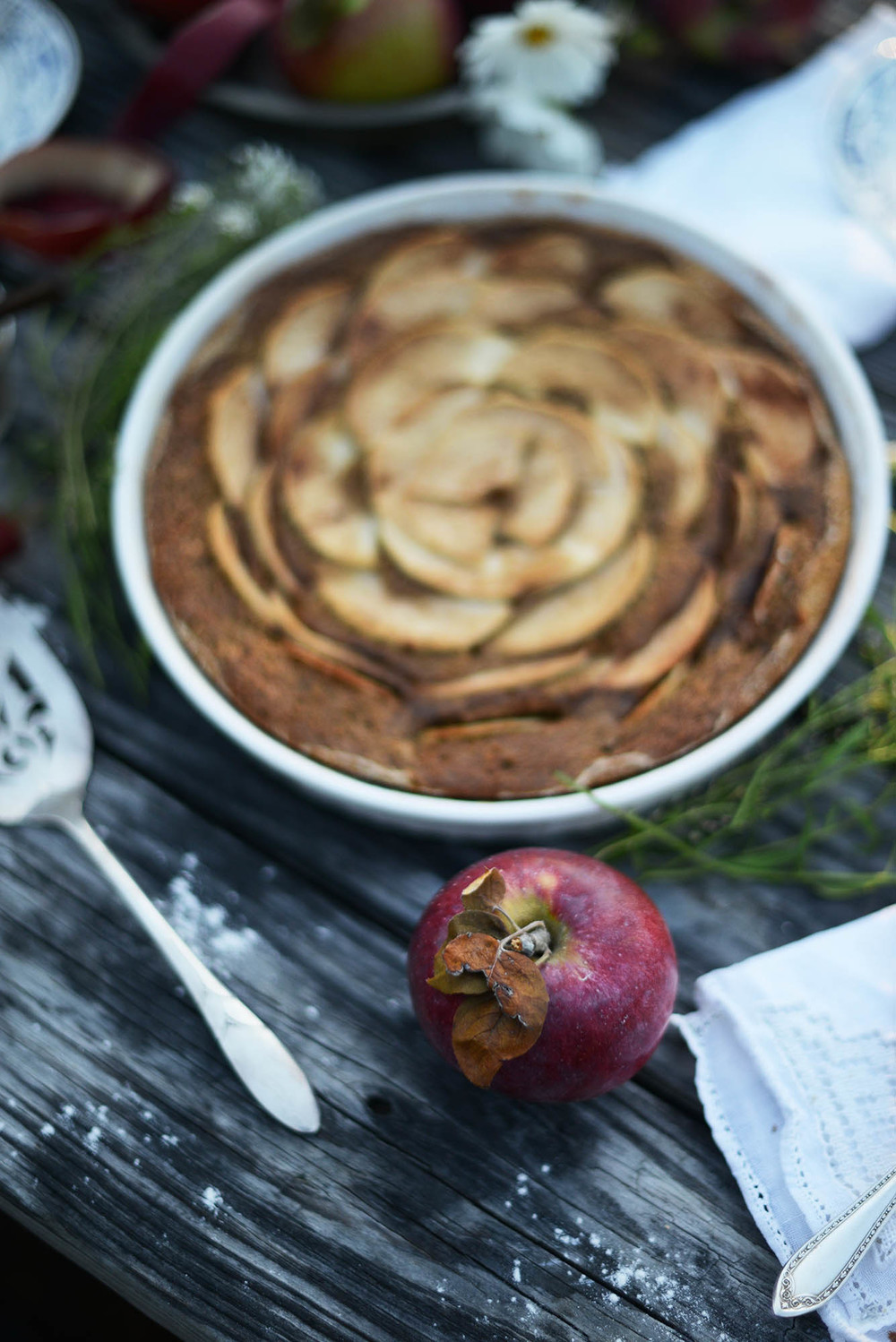 Vegan Maple Spice Apple Cake via Fare Isle