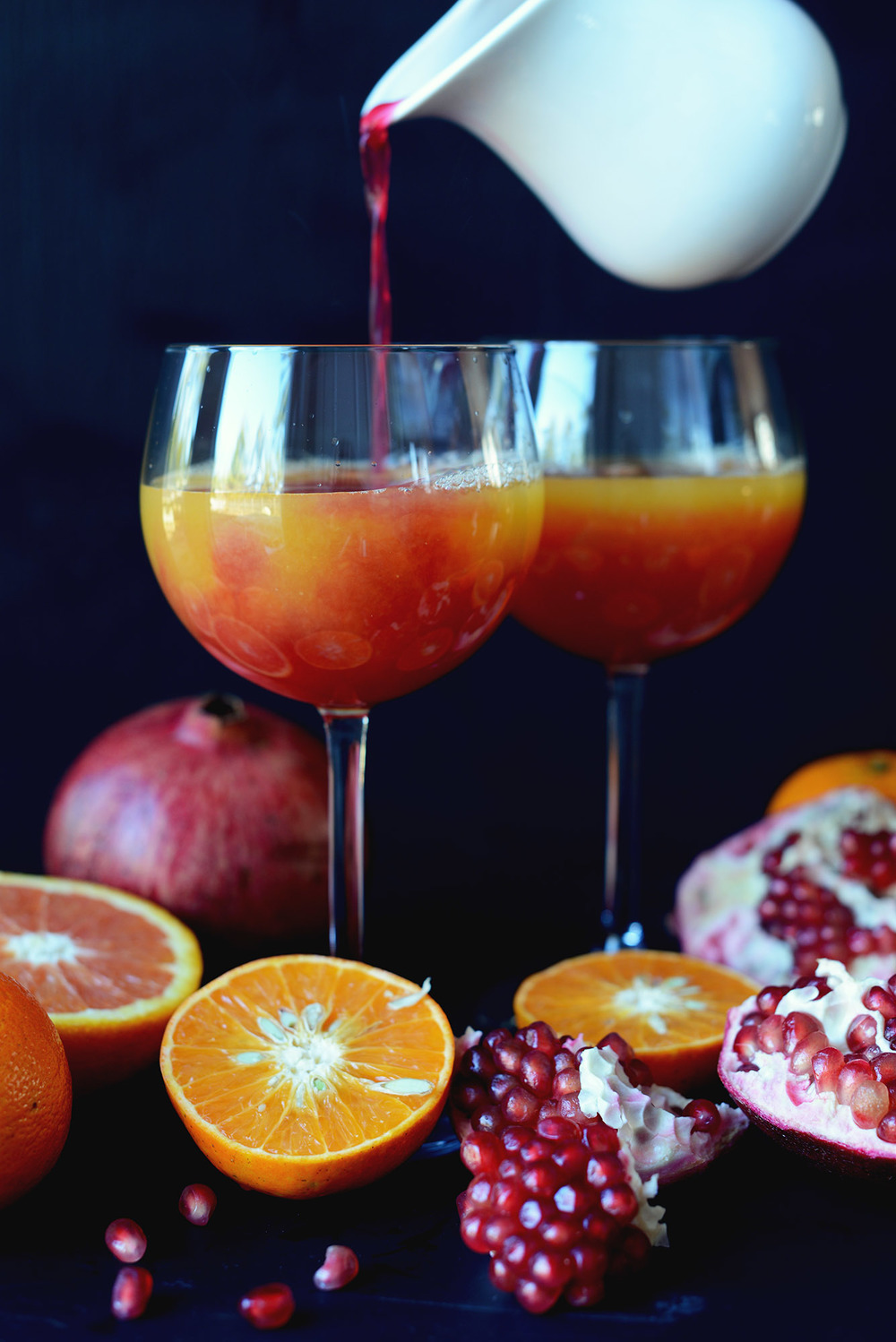 Fare Isle | Fresh Pressed Tangerine Pomegranate Juice