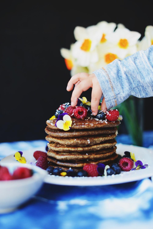 Fare Isle | Banana Oat Buckwheat Pancakes - Vegan & Gluten Free