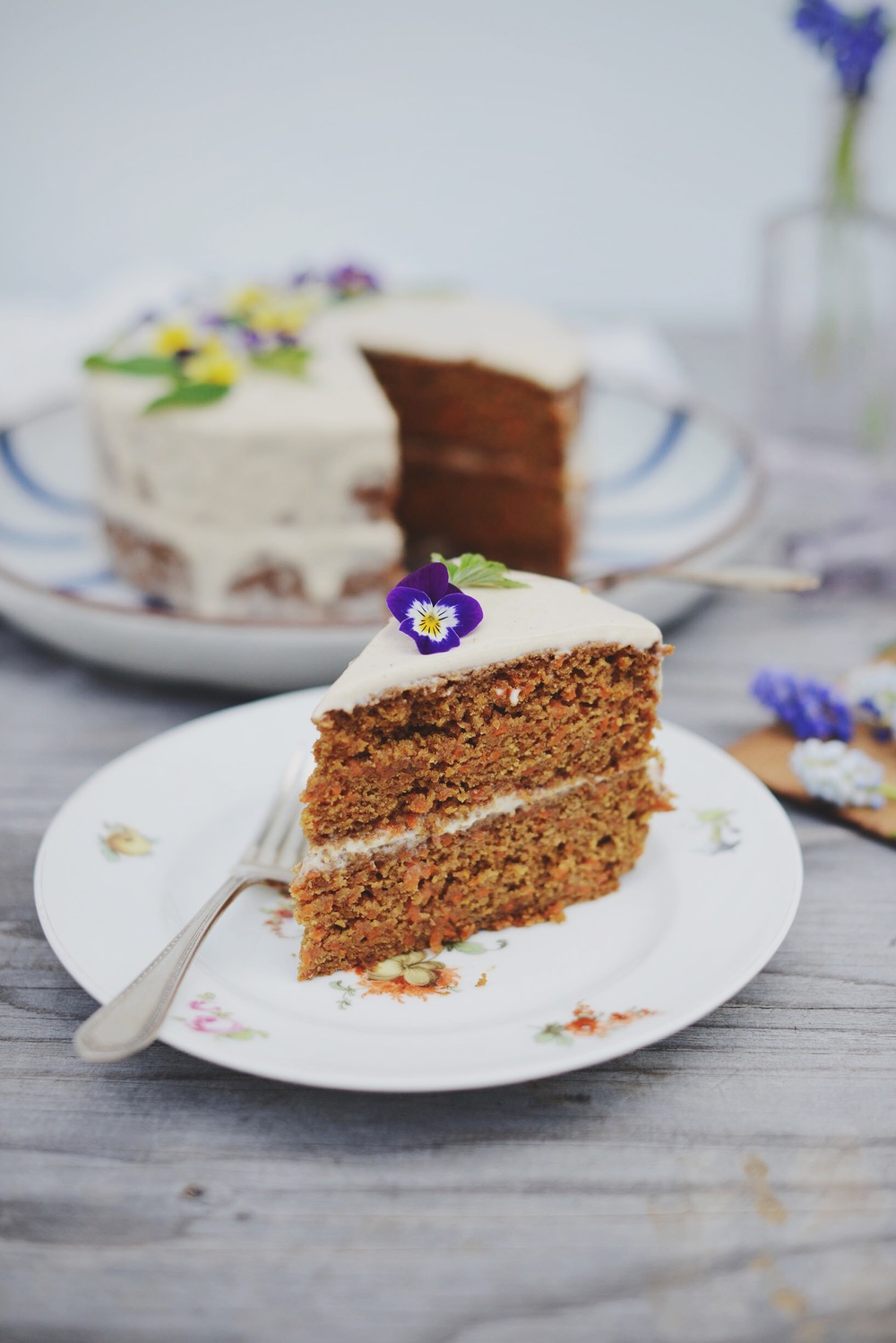 Fare Isle | Carrot Cake with Labneh-Coconut Frosting | Vegan