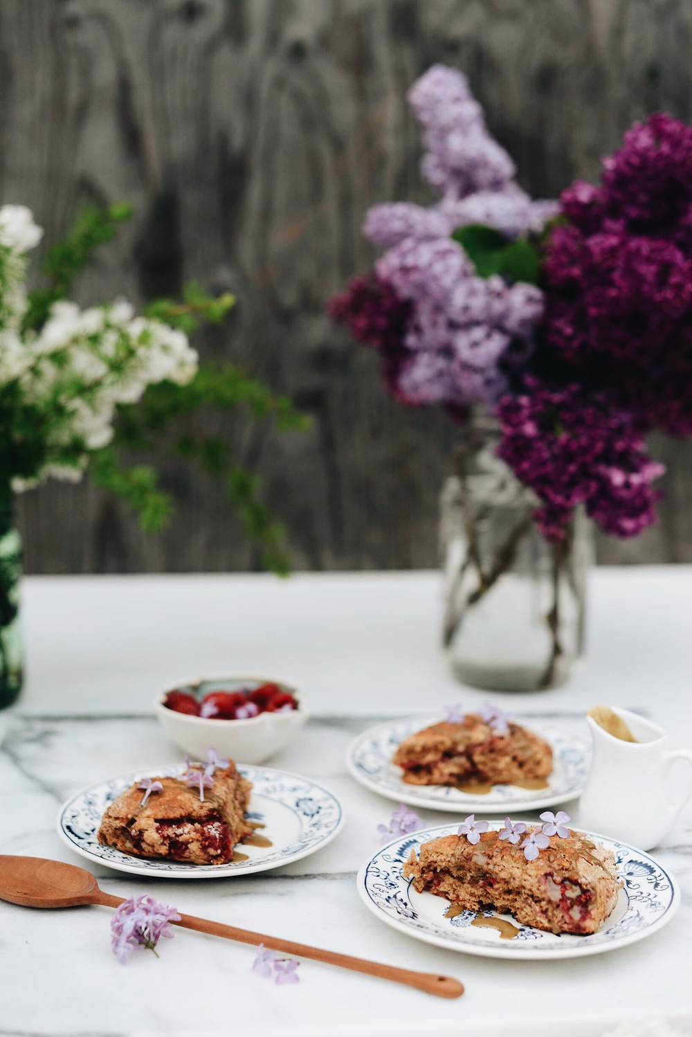 Fare Isle | Lilac Raspberry Scones - Vegan - Made with coconut milk!