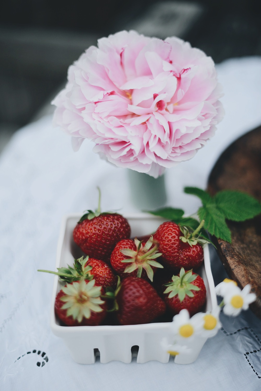 Fare Isle | Midsummer Lemon Poppy Cake With Summer Fruits - Vegan