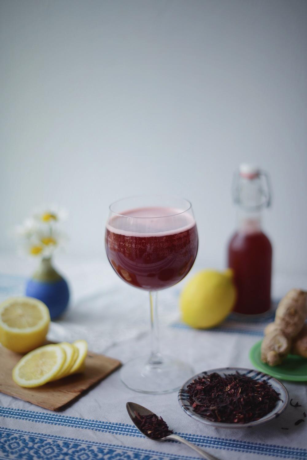 Fare Isle | Hibiscus Lemon Ginger Water Kefir