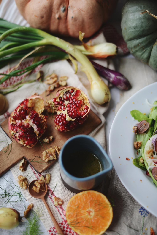 Fare Isle | Fennel Pomegranate Autumn Harvest Salad - Vegan + Gluten Free