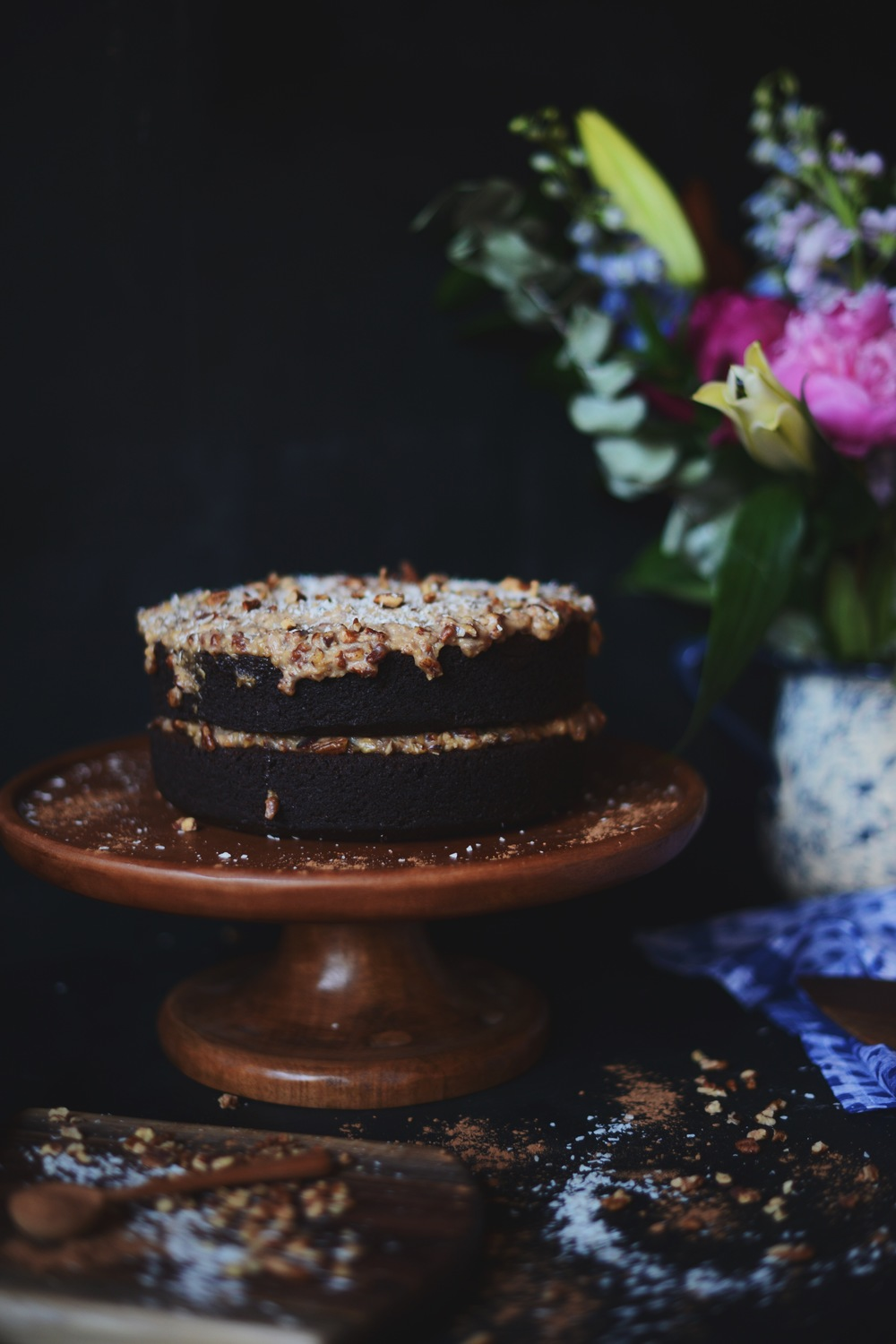 Fare Isle | Vegan German Chocolate Cake