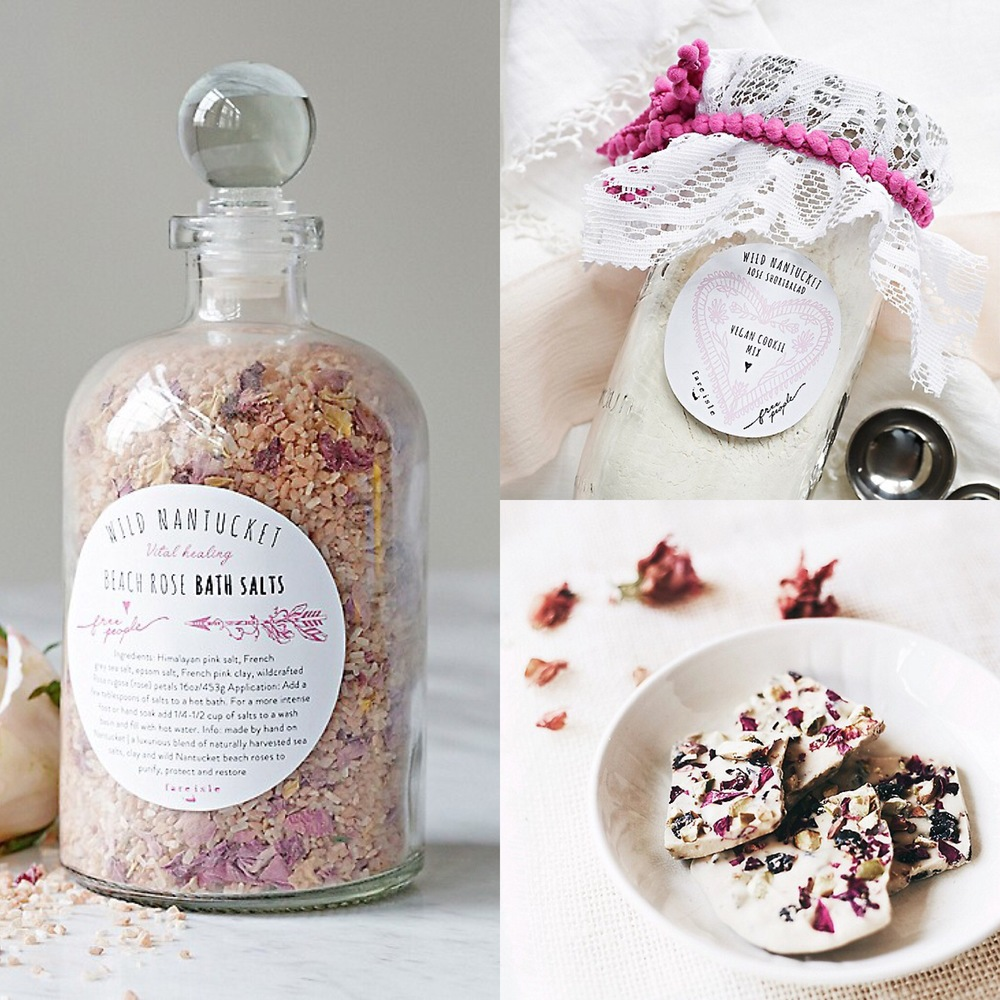 Fare Isle x Free People Wild Nantucket Rose Product Collaboration