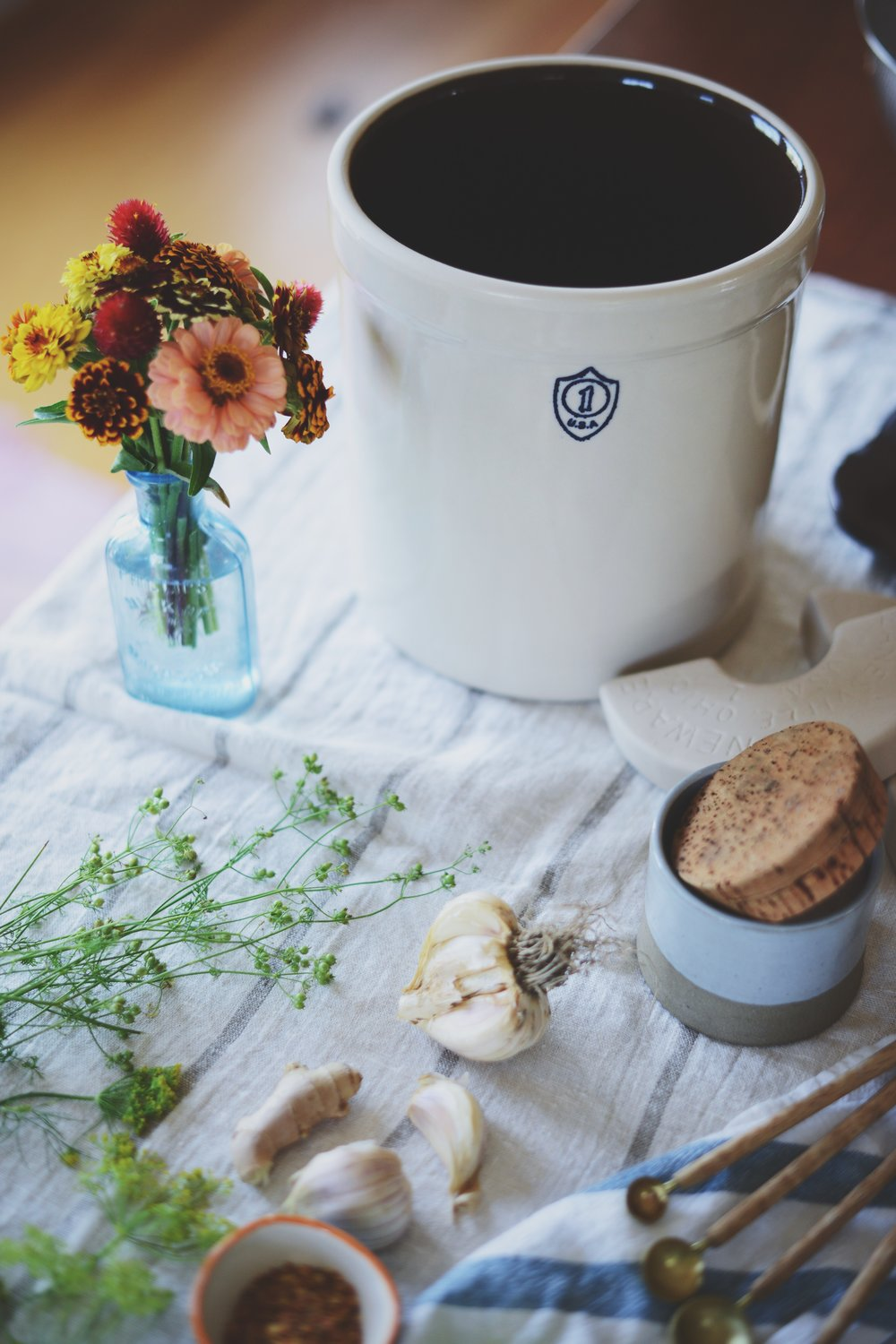 Fare Isle | Wild Fermented Golden Sauerkraut + Fermentation Crock Giveaway from Gardeners Supply Co.
