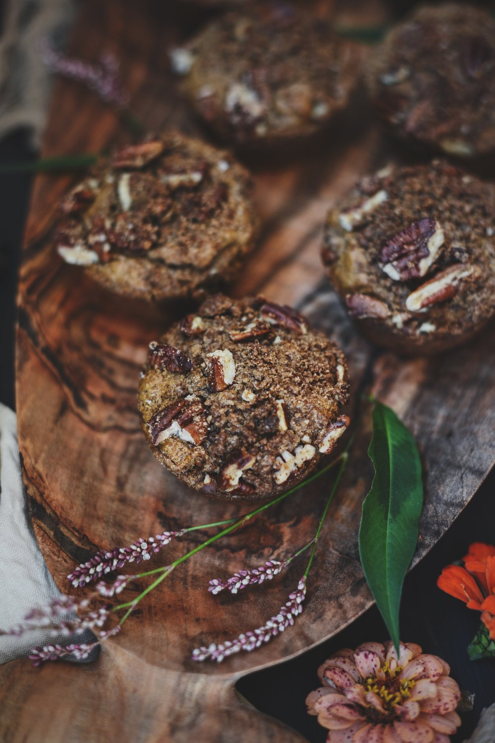 Fare Isle | Pecan Streusel Spiced Sweet Potato Muffins - Vegan