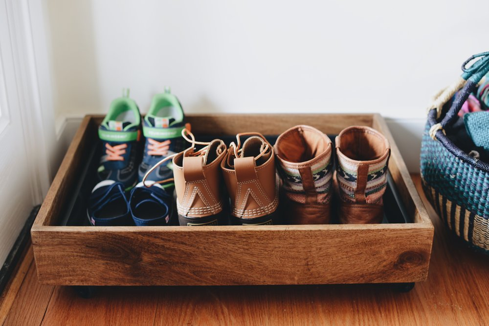Fare Isle | Mango Wood Boot Tray From Gardeners Supply Co.