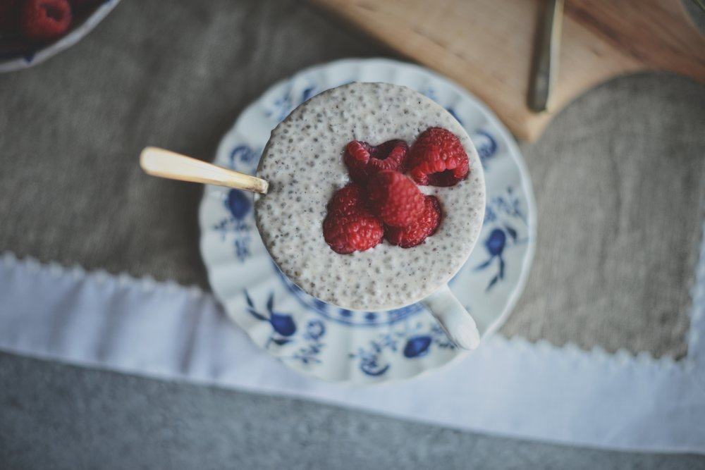 Fare Isle x Coyuchi: Vanilla Bean Maple Coconut Chia Pudding - Vegan, GF, Paleo