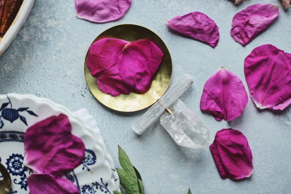 Fare Isle x Coyuchi: Rhubarb Rose Almond Cake - Vegan