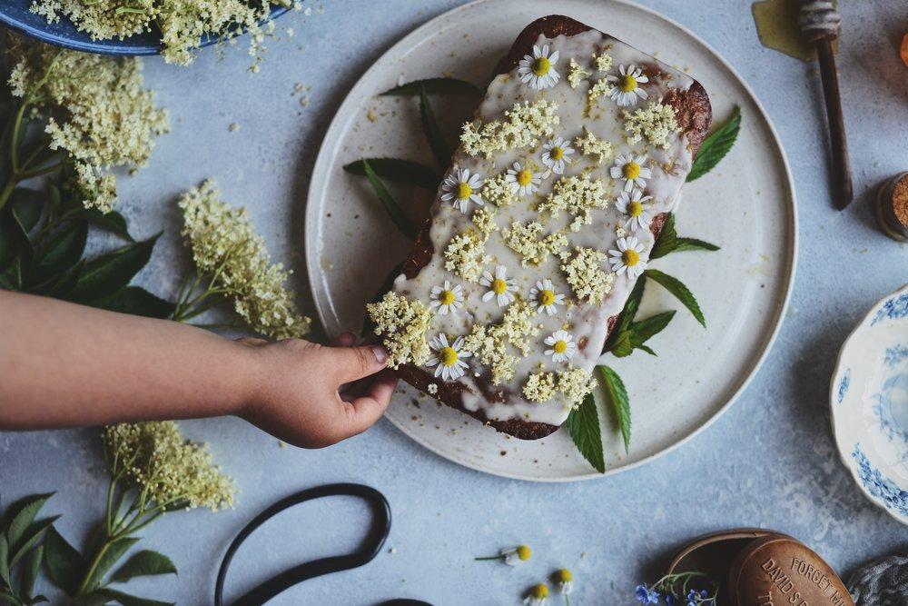 are Isle | Wild Elderflower Honey Lemon Drizzle Cake - Vegan Friendly