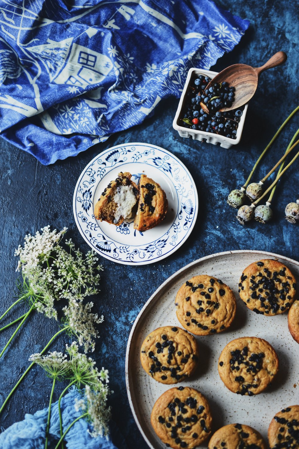 Fare Isle | Vegan Wild Blueberry & Huckleberry Muffins