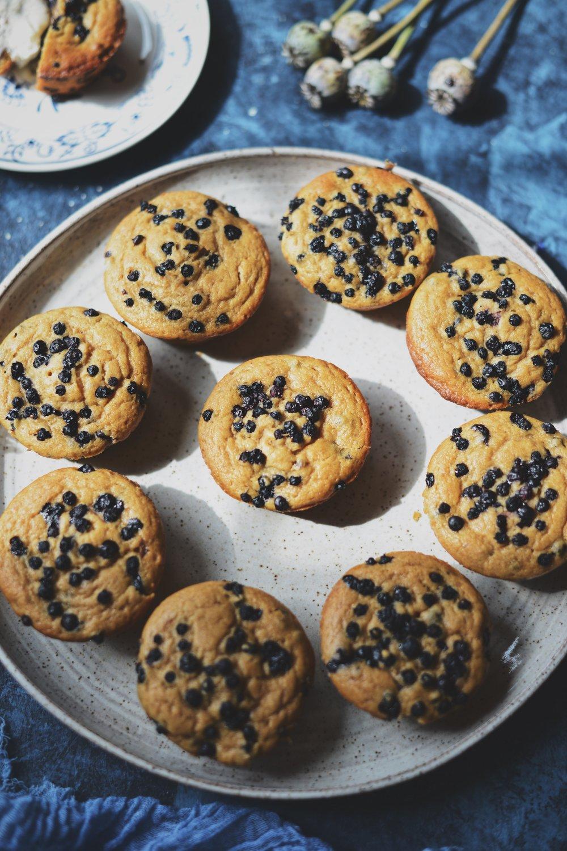 Fare Isle | Vegan Wild Blueberry & Huckleberry Muffins