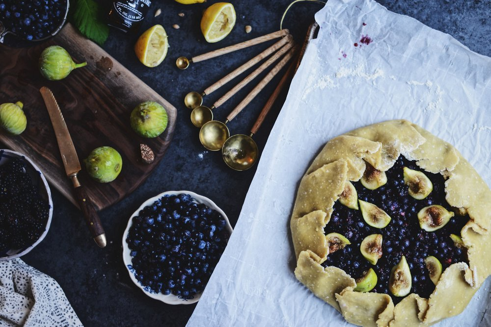 Fare Isle | Late Summer Vegan Berry and Fig Galette