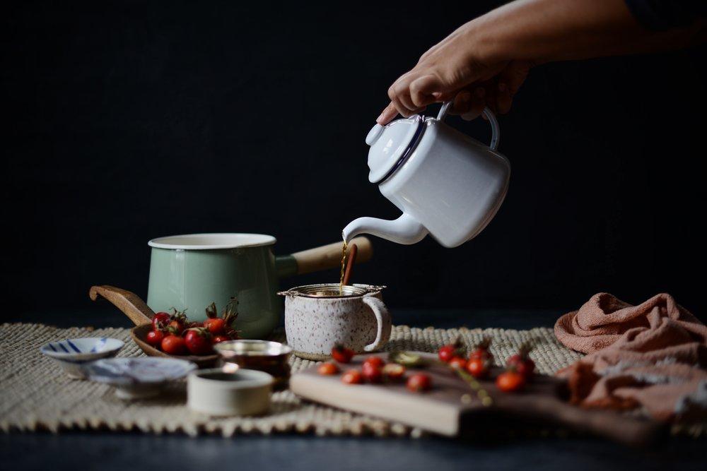 Fare Isle x Coyuchi - Rosehip Rooibos Almond Latte