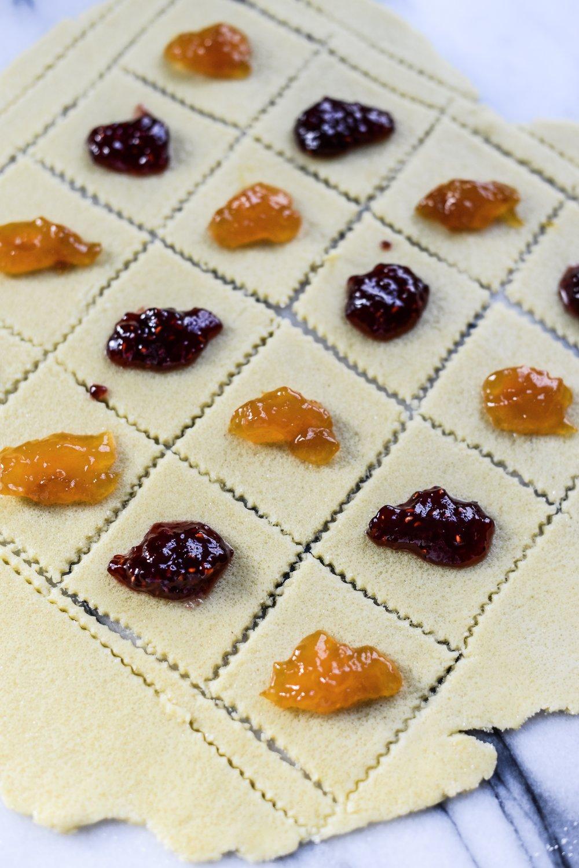 Fare Isle | Vegan Apricot and Raspberry Kolache (Kołaczki) Cookies