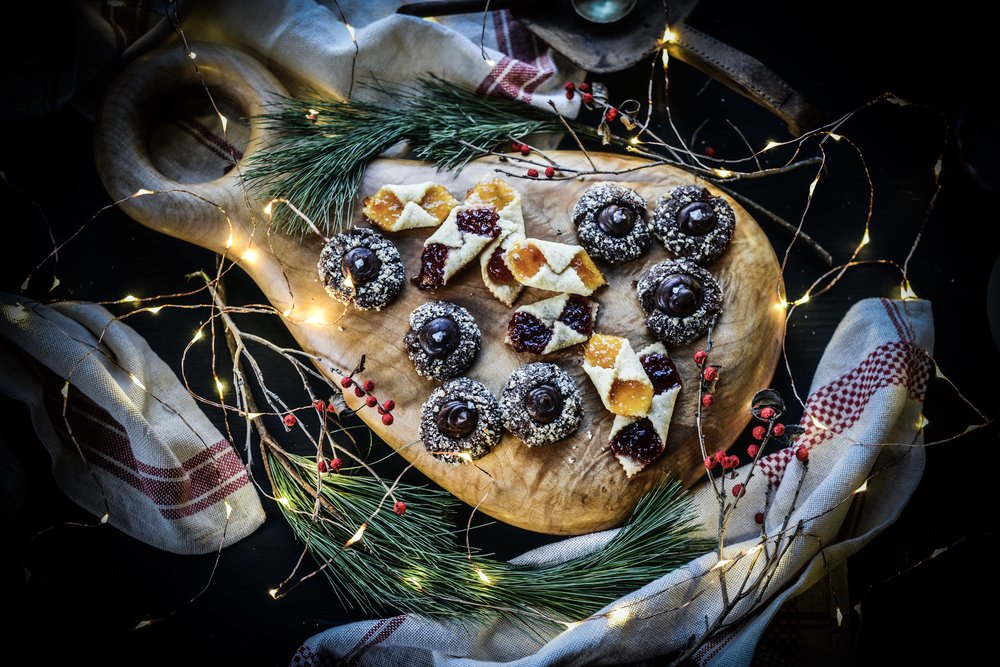 Fare Isle | Vegan Chocolate Hazelnut Thumbprint Cookies with Mocha Ganache