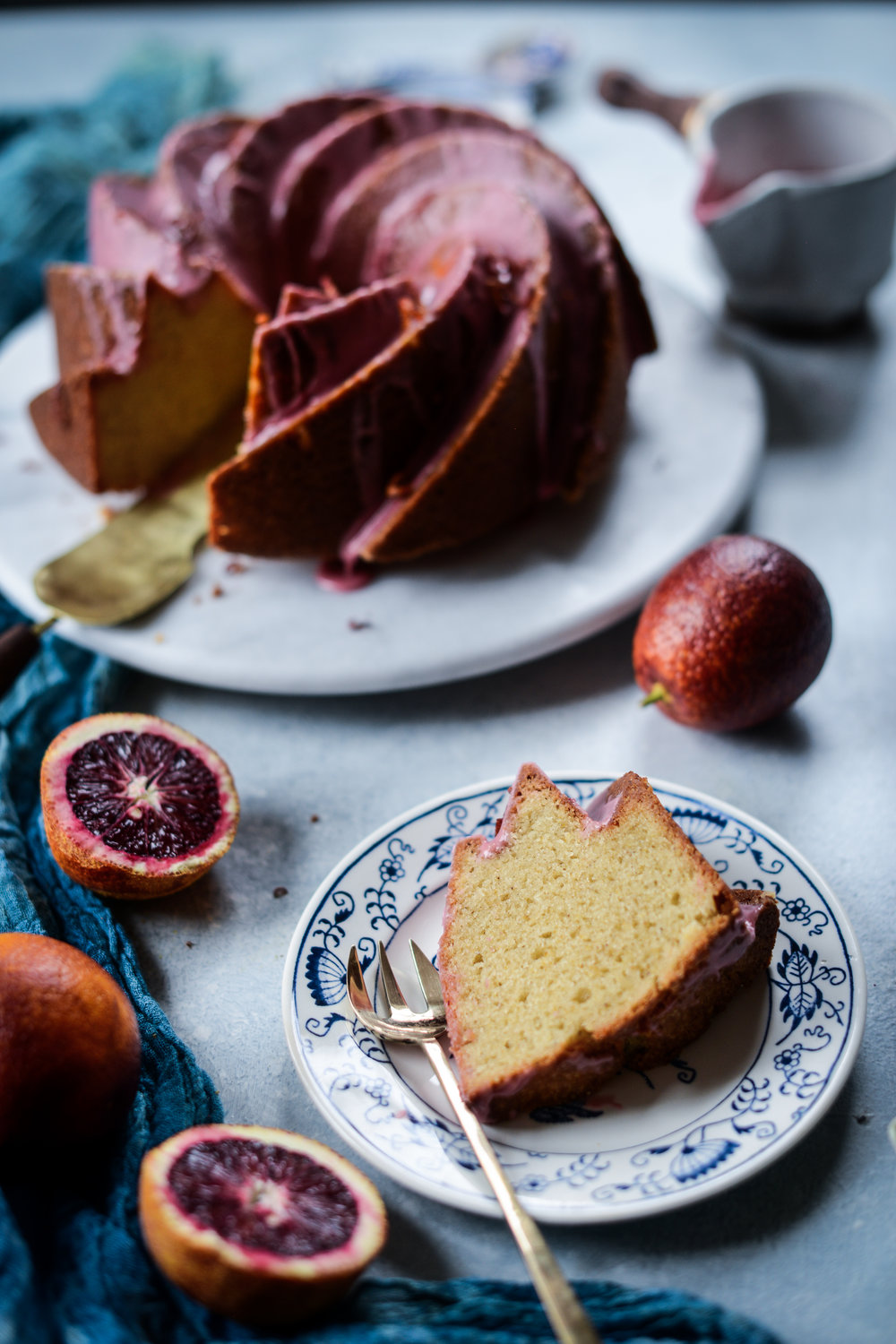 Fare Isle | Vegan Blood Orange Yogurt Cake