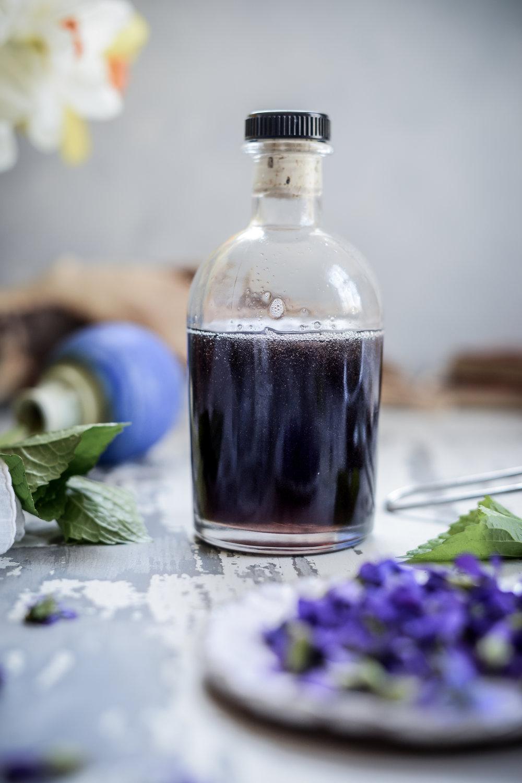 Wild Violet Syrup & Magical Color-Changing Pink Violet Lemonade