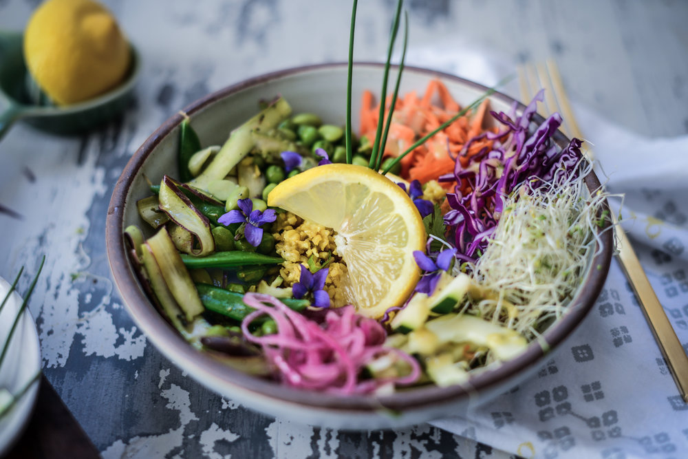 Fare Isle | Weeknight Rainbow Rice Bowls with Village Harvest