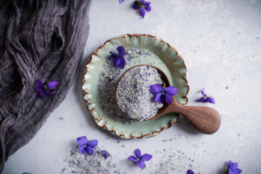 Fare Isle | DIY Wild Violet Sugar