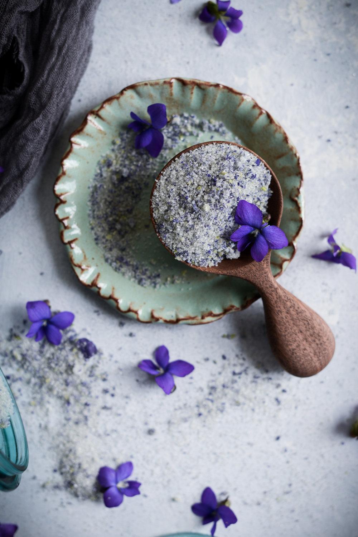 Fare Isle | Homemade Wild Violet Sugar