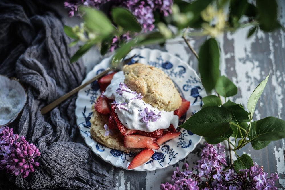 lilac shortbread