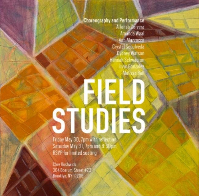Field Studies - 2014. Painting by Julia Schwadron. Poster design by Amanda Waal.