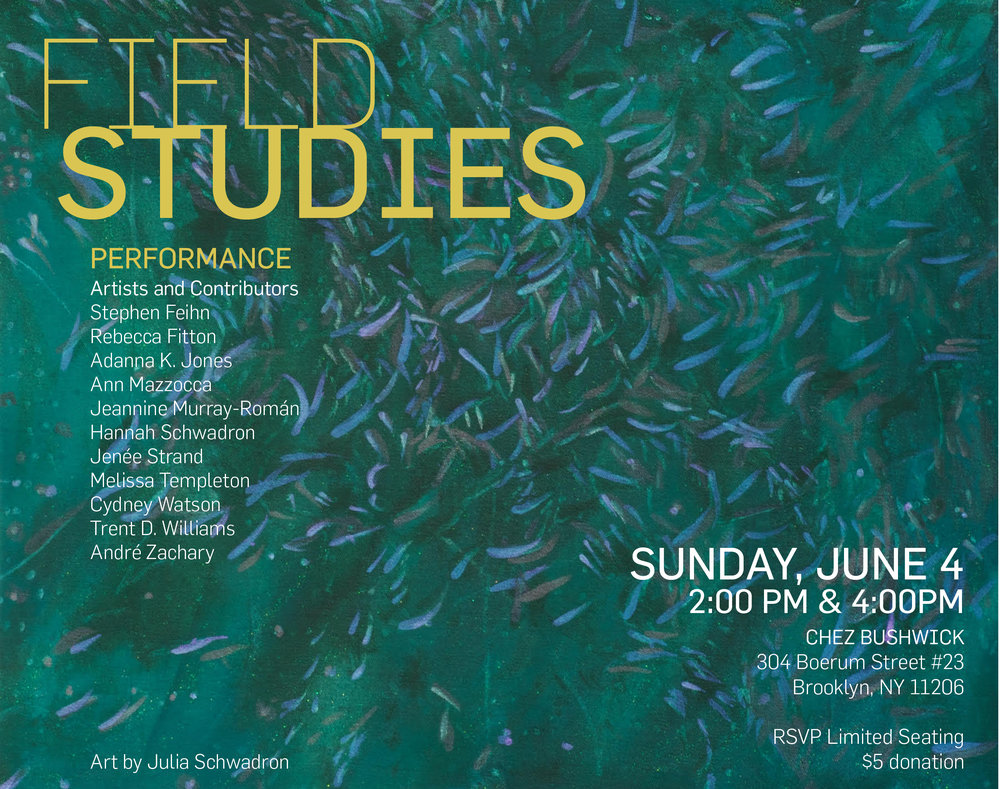Field Studies - 2017. Painting by Julia Schwadron. Poster design by Amanda Waal.