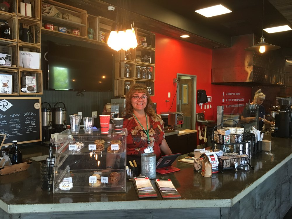 Say hi to Kristen next time you are at Restoration Roasters!