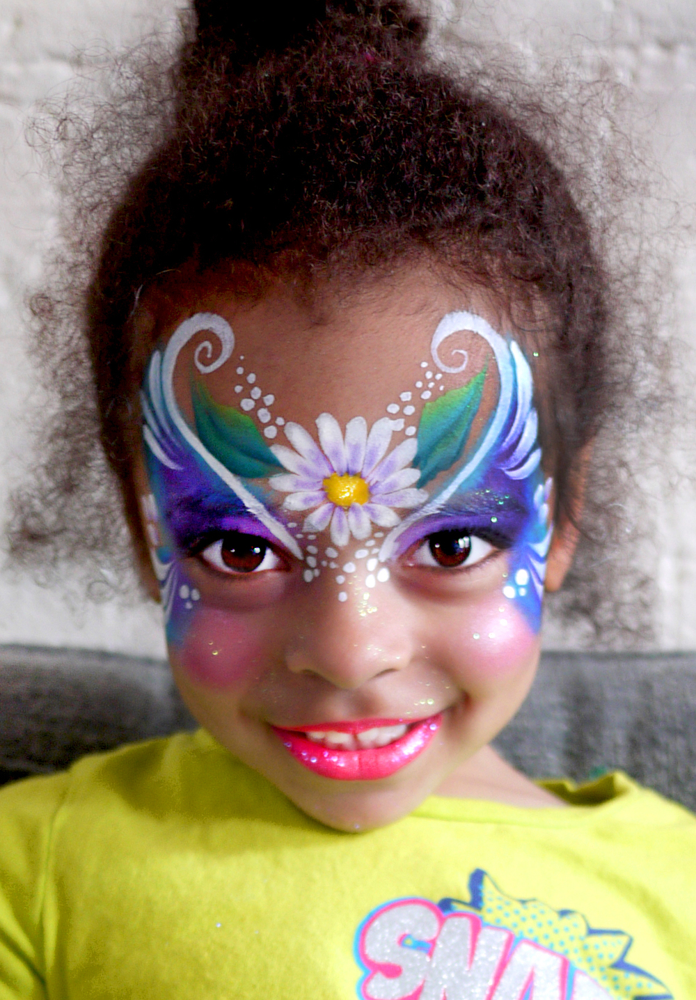 "Fairy Princess face painting by Lenore Koppelman aka ""The Cheeky Chipmunk"" in NYC"